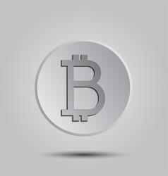 crypto currency bitcoin logo icon for web vector image