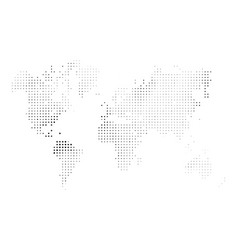 Dotted map world halftone design simple flat vector