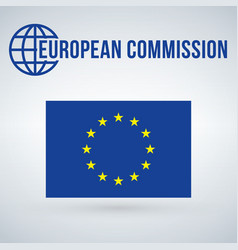 european union comissions flag isolated on modern vector image