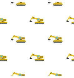 excavator pattern flat vector image