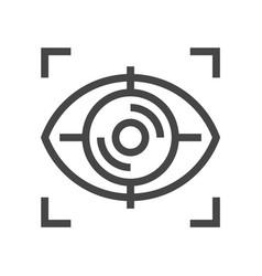 eye identification line icon 48x48 perfect pixels vector image