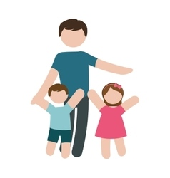 Father and children icon image vector