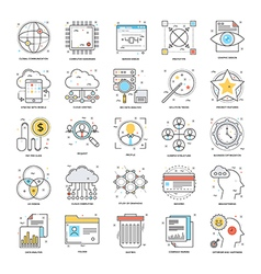 Flat Color Line Icons 18 vector image