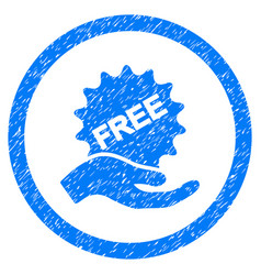 Free offer rounded grainy icon vector
