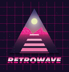 futuristic and retrowave design vector image