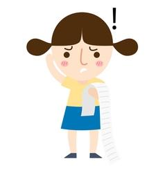Girl read note vector