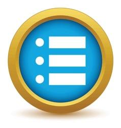 Gold ordinal list icon vector