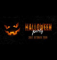 grunge halloween banner vector image