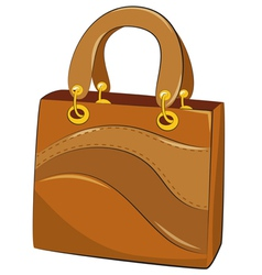 handbags on white background vector image
