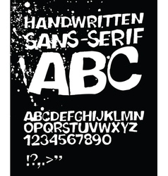 handwritten abc on black vector image