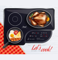 hob surfaces cooking poster vector image