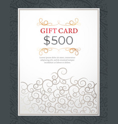 Holiday gift card or shopping voucher present vector