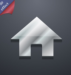 Home Main page icon symbol 3D style Trendy modern vector