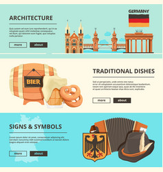 horizontal banners with pictures of germany vector image