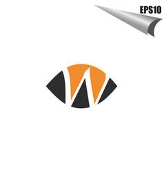 initial w logo monogram design template simple vector image