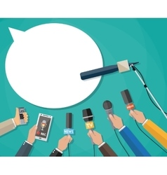 journalism live report hot news vector image