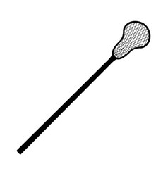 lacross racquet sport black icon isolated vector image