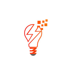 lightbulb energy electric logo vector image