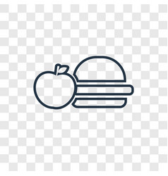 lunch concept linear icon isolated on transparent vector image