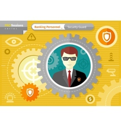 Male security guard profession concept vector