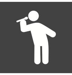 Man Singing vector