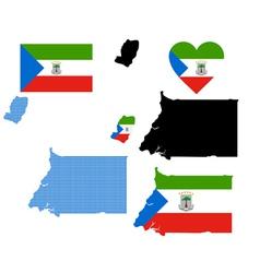 Map of Equatorial Guinea vector