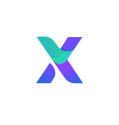 modern letter x logo design vector image