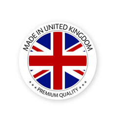 Modern made in united kingdom british sticker vector