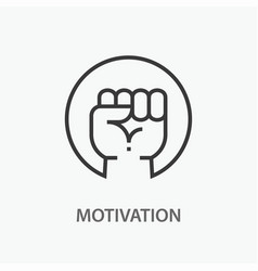 Motivation line icon on white background vector