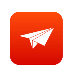 paper plane icon digital red vector image