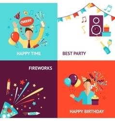 Party Design Concept vector