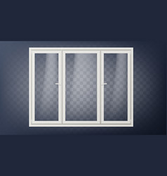 plastic door closed glass store door vector image