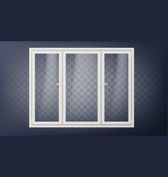 plastic door closed glass store door vector image
