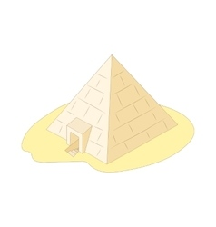 Pyramid of Giza Egypt icon cartoon style vector