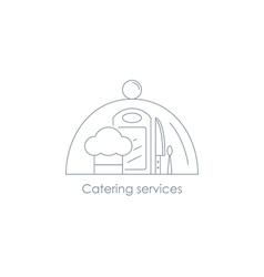 Restorant menu linear icon vector image