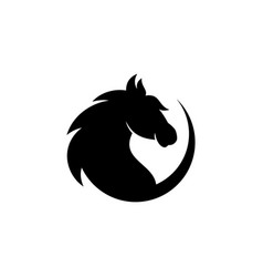 round head horse vector image
