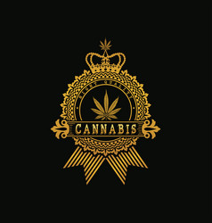 royal golden cannabis vector image