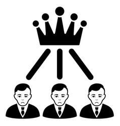 Sad hierarchy men black icon vector