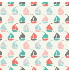 Sailboat shape seamless pattern vector image vector image