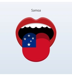 Samoa language Abstract human tongue vector