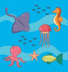sea world animals vector image