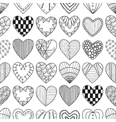 Seamless black white pattern with decorative vector