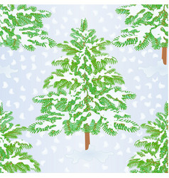 seamless texture christmas tree with snow vector image