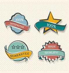 set flat labels paper promotion tags vector image