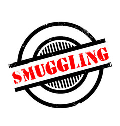 Smuggling rubber stamp vector