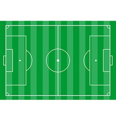 Soccer field from above vector image