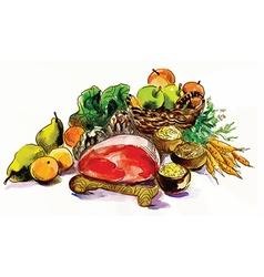 Still life - food vector