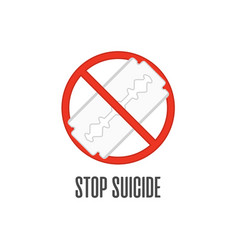 stop suicide vector image