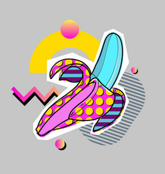 Summer party poster pattern set geometric memphis vector