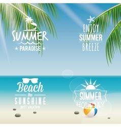 Summer Vacation labels vector